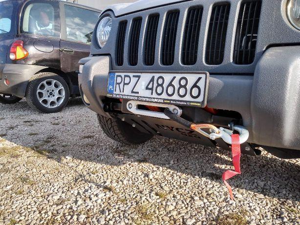 Płyta pod wyciągarke z osłoną chłodnicy Jeep Cherokee Kj