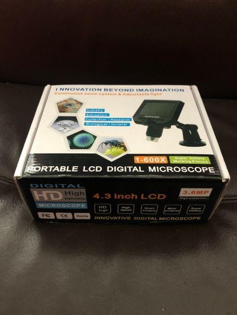 Mikroskop G600 Cyfrowy, przenośny, ciągły 1-600X 3,6 MP lupa