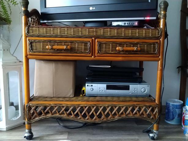 Stolik szafka pod tv wiklinowa rezerwacja