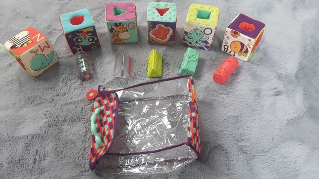 B Toys klocki sensoryczne miękkie stan bdb Gratis