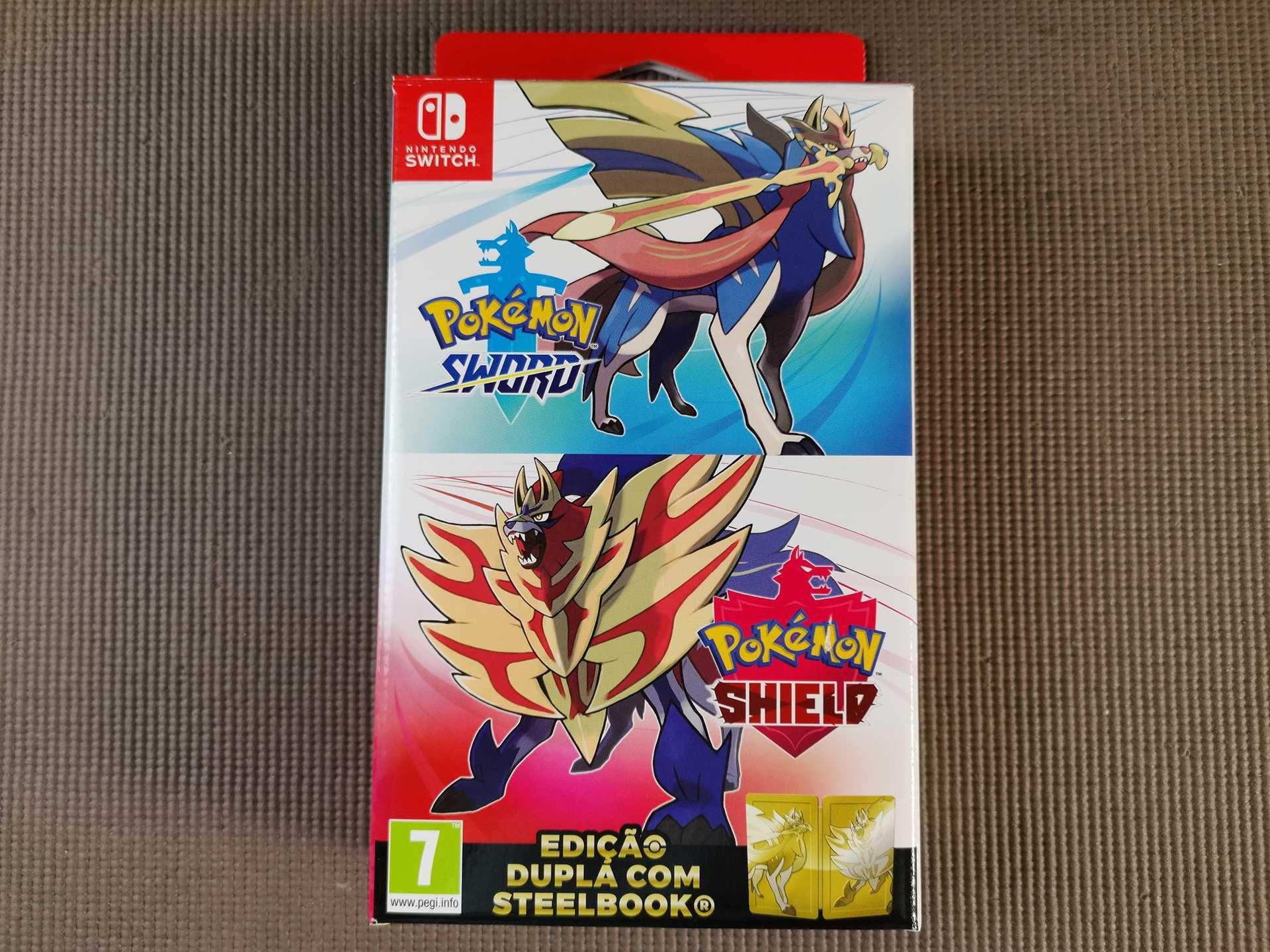 Pokemon Edição Especial Sword Shield Dupla SteelBook Nintendo Switch
