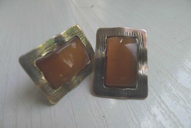Kolczyki srebrne z kamieniem półszlachetnym