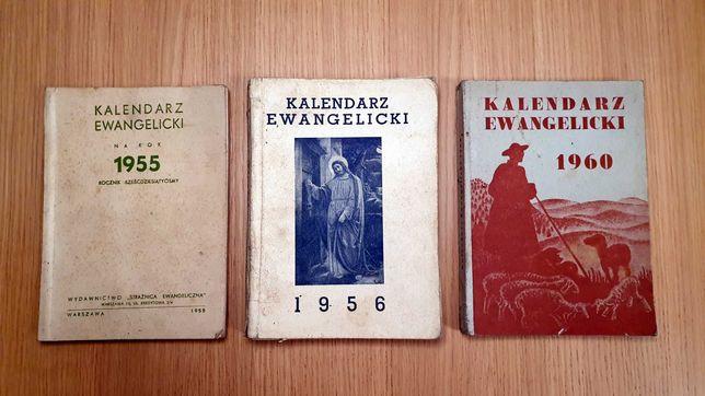 Kalendarz ewangelicki książkowy rocznik 1955, 1956, 1960