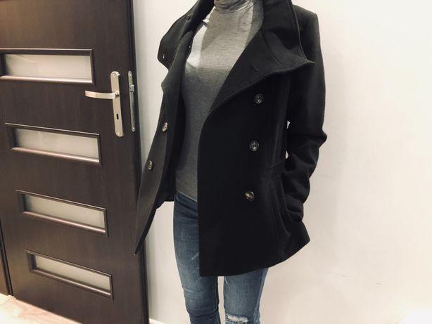 Płaszcz H&M czarny rozmiar S/M