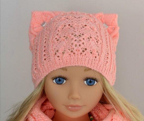 Весенняя лёгкая шапка Arctic на принцессу 3-8 лет