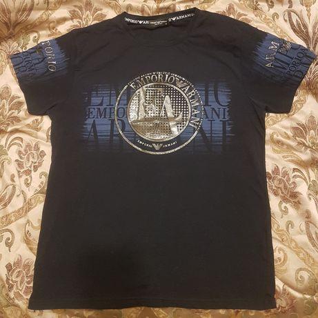 Koszulka EMPORIO ARMANI rozmiar M Granatowa Nowa