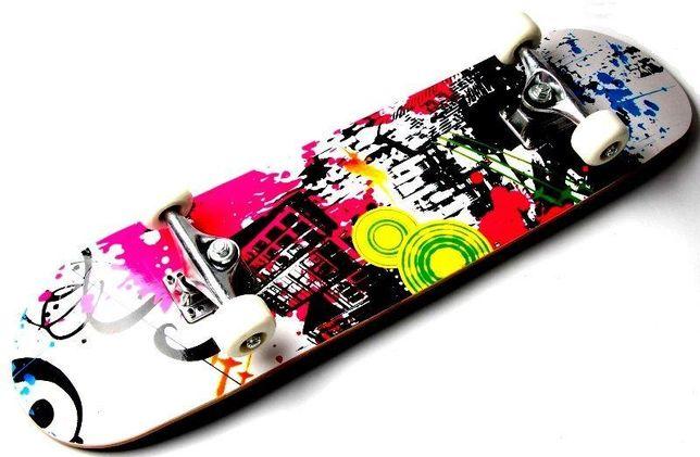"""Скейтборд деревянный для трюков скейт Scale с рисунком """"Rainbow"""""""