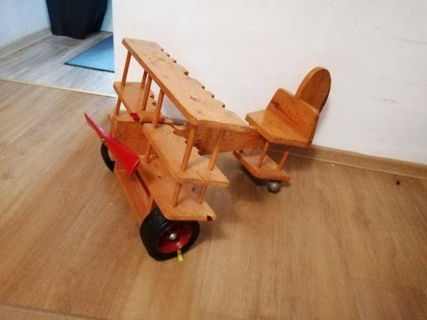 Drewniany jeździk pchacz ozdoba dekoracja