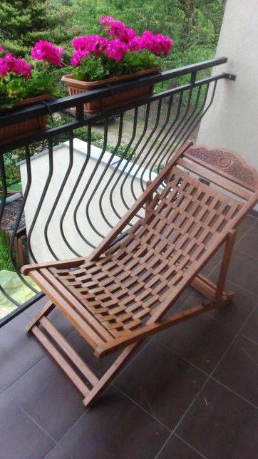 Fotel drewniany palisander kolonialny w stylu Almi Decor