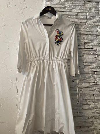 Платье рубашка, белое платье