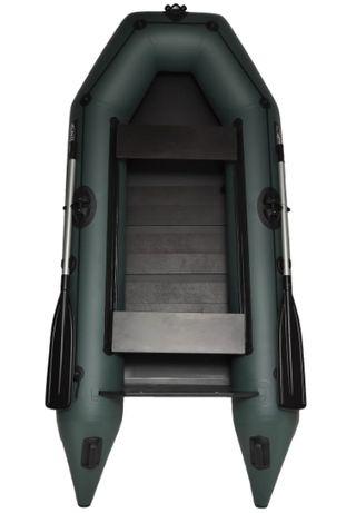 Надувная двухместная Лодка SKIF 280 с транецем под мотор ПВХ