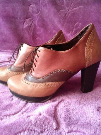 Botki buty półbuty Eksbut ze skóry r 38