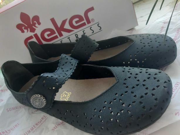 Туфли женские Rieker 38 р кожа новые