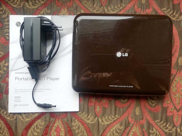 Przenośny odtwarzacz DVD LG DP650 ekran 7'' idealny w podróży