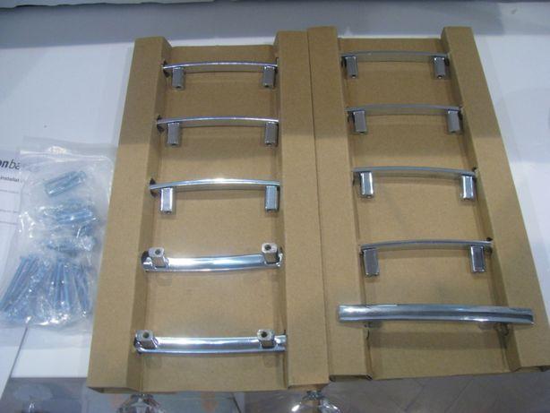 Nowe uchwyty chromowane do drzwiczek szafek mebli 13 cm