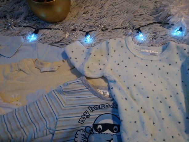 5 koszulek / bluzeczek niemowlęcych rozmiar 62 (4 dł. rękaw i 1 kr.)