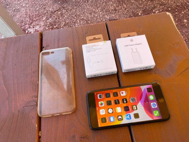 Vendo iPhone 7 Plus 128Gb Black C/Carregador + Capa de Protecção