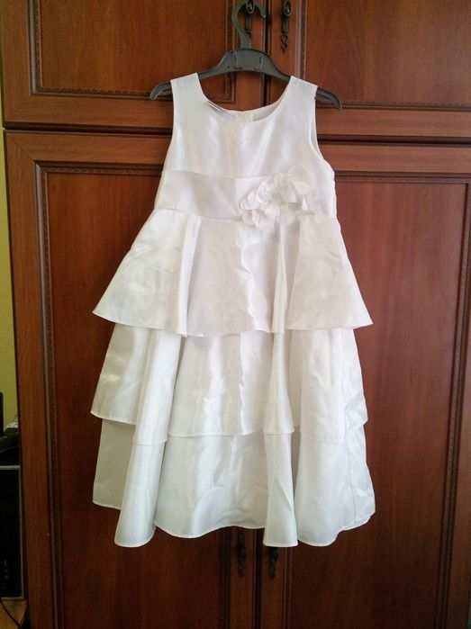 Сукня атласна. 8років. Біла. Львов - изображение 1