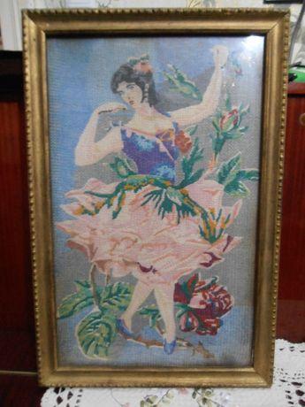 картина балерина (вышитая) ручной работы