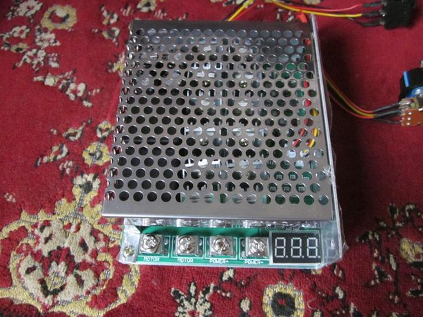 Мощный шим регулятор напряжения скорости оборотов 9-50 Вольт 12В 100А