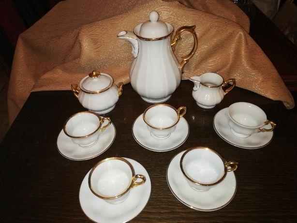 Serwis porcelanowy espresso Tielsch. komplet, porcelana, kawa