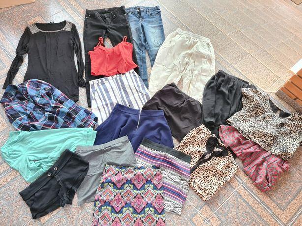 Вещи пакетом платье , кофта, джинсы , юбка