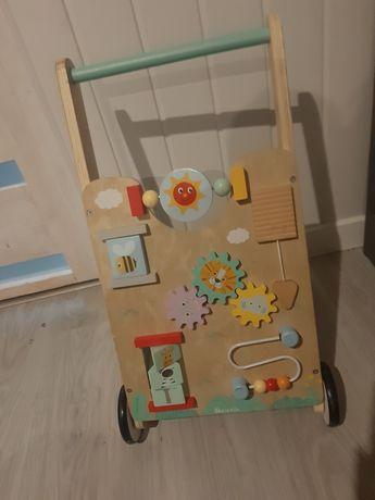 Puchacz chodzik drewniany do nauki chodzenia dla dziewczynki chłopca