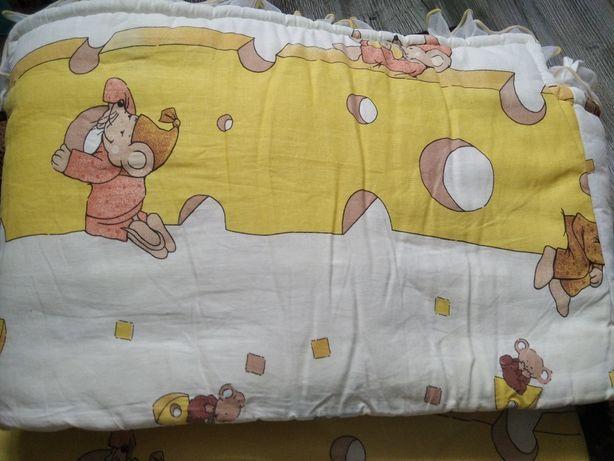Стандартные хлопковые бортики  защита на детскую кровать
