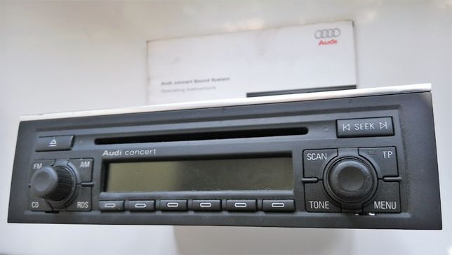 Audi A4 B6 radio CONCERT II z kodem