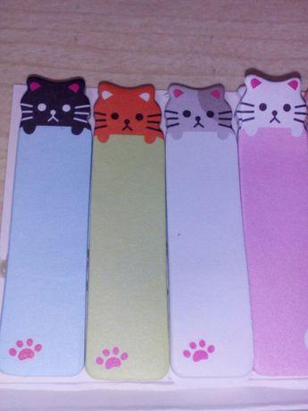 Gatos Coloridos Marcadores de Folhas.