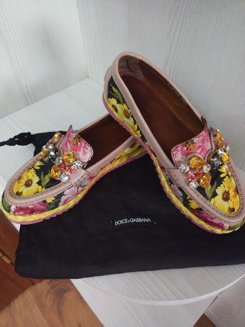 Лофери,  мокасини, туфлі оригіналі  Dolce Gabbana!