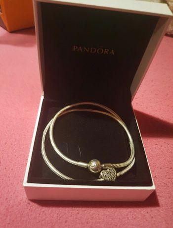 Colar Pandora c/ Conta