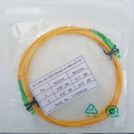 Patchcord cabo fibra óptica