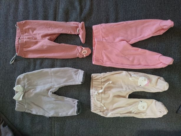 Półspiochy Ewa Klucze, H&M, Auchan 50, 56, 62 cm little. spodnie