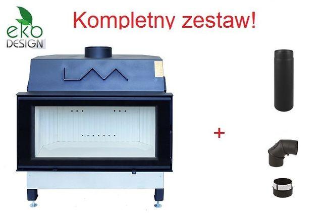 Duży wkład kominkowy LAVA LUMINA 16kW Komplet Podłączeniowy do Komina!
