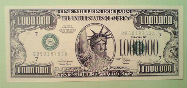 1 000 000 $ купюра миллион долларов США