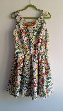 Sukienka 38 M kwiaty Cocomore rozkloszowana
