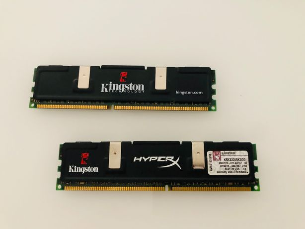 Memórias KINGSTON HyperX 2Gb DDR - 400Mhz