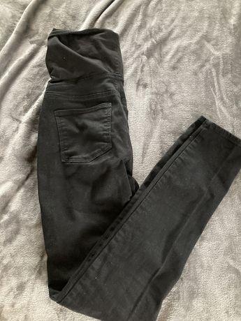 Spodnie ciazowe jeansy S hm mama czarne rurki