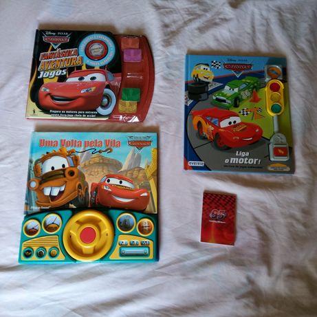 Três Livros de jogos dos Carros disney pixar