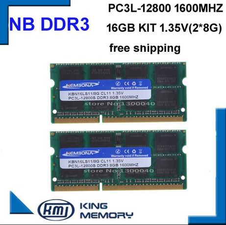 НОВАЯ 16GB гб 2по8 DDR3 1600 МГц ДЛЯ НОУТБУКА оперативная память ddr3l