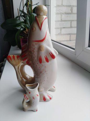 Фарфор СССР рыбки, 2 набора