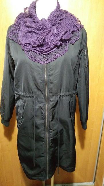 Ciepły płaszczyk-kurtka z kożuszkiem, 42-44.