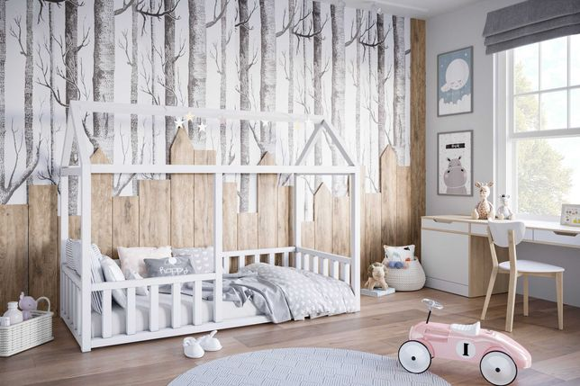 Domek Helenka - łóżeczko drewniane