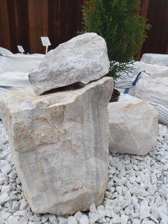 Piękne bryły White, kamienie do gabionów, otoczak, grys