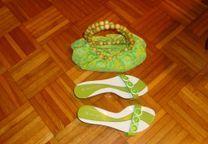 """Conjunto sandálias + carteira """"Cristian Lay"""""""
