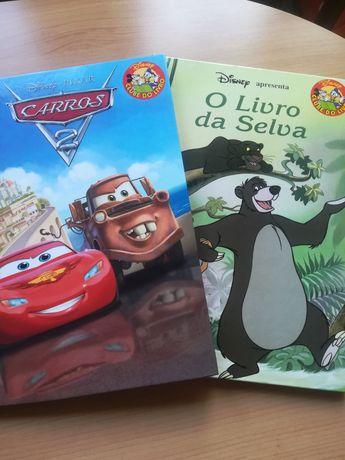 2 Livros da Disney: 'O Livro da Selva' e 'Carros'