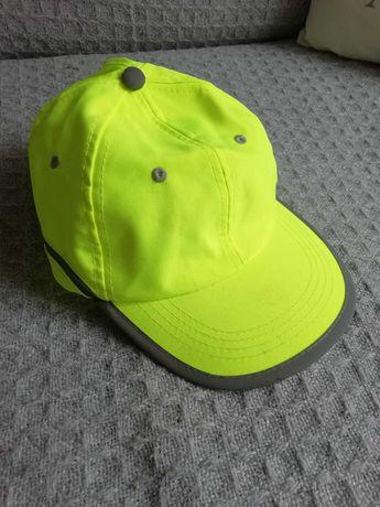 Nowa czapka z daszkiem robocza odblaskowa