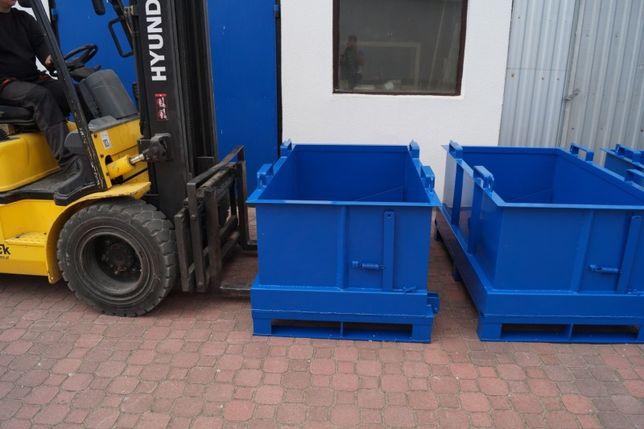 Pojemnik, kontener z otwieranym dnem 1000 L, niezastąpiony