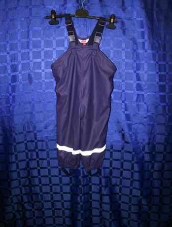 Дитячі теплі штани вологостійкі з лямками Kids 86 розмір